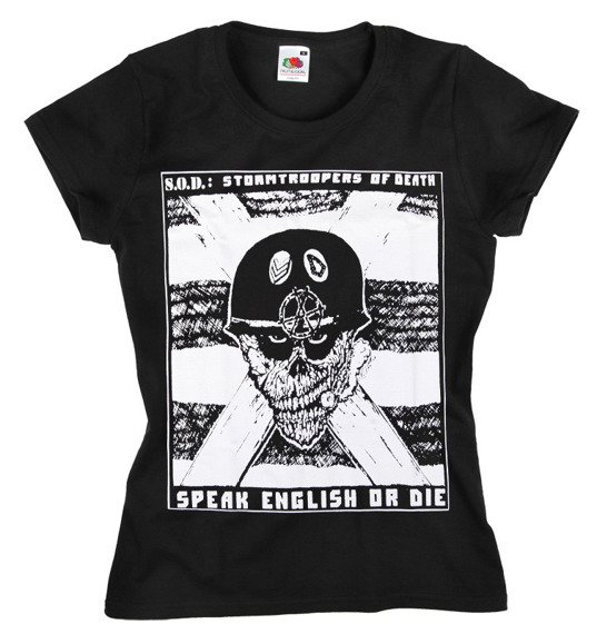 bluzka damska S.O.D. - SPEAK ENGLISH OR DIE