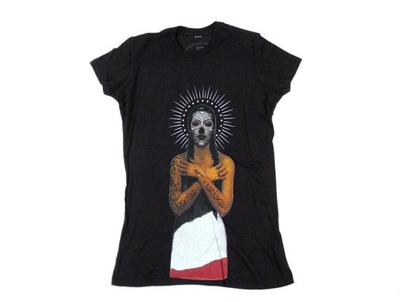 bluzka damska SOMETHING SACRED - Black Heart Queen (BLACK)