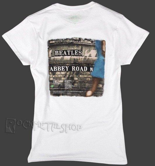 bluzka damska THE BEATLES - ABBEY ROAD biała