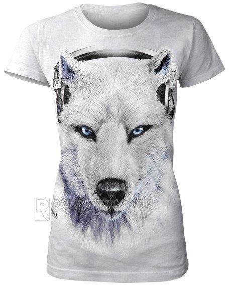 bluzka damska THE MOUNTAIN - WHITE WOLF DJ