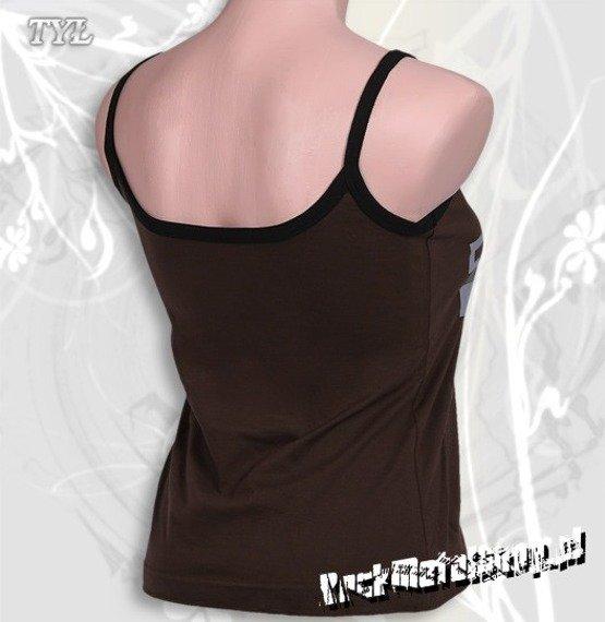 bluzka damska TOOL - LOGO brązowa, na ramiączkach
