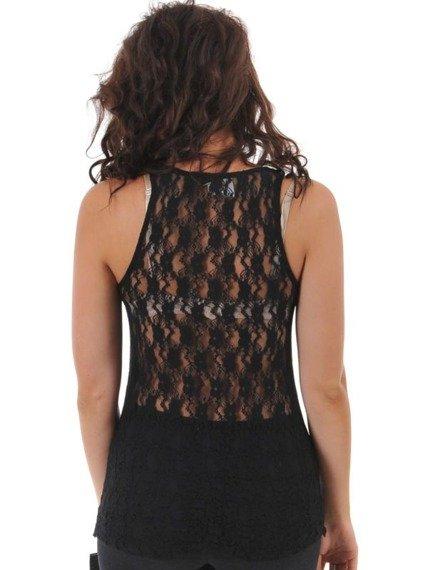 bluzka damska WEST COAST CHOPPERS - SOLID BLACK FANCY, na ramiączkach