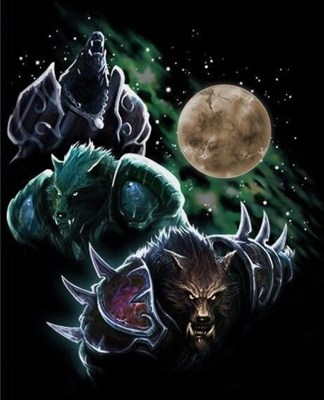 bluzka damska WORLD OF WARCRAFT - THREE WORGEN MOON