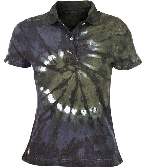 bluzka polo barwiona BLUE-GREEN MIX