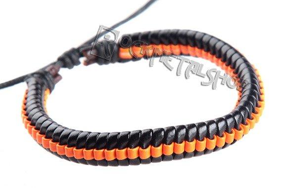 bransoletka czarno-pomarańczowa