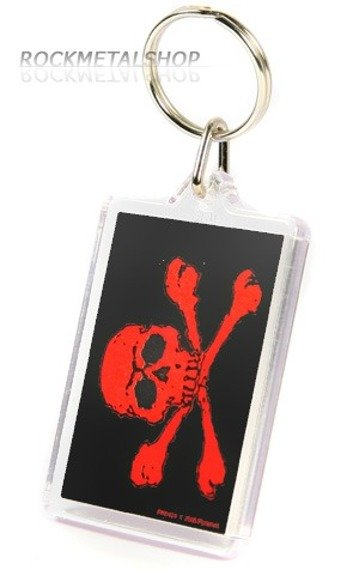 brelok do kluczy RED SKULL (PK0424)