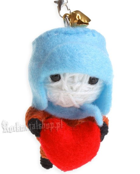 brelok laleczka VOODOO DOLL - LONELY LOVE blue