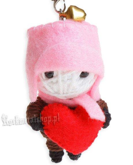 brelok laleczka VOODOO DOLL - LONELY LOVE pink