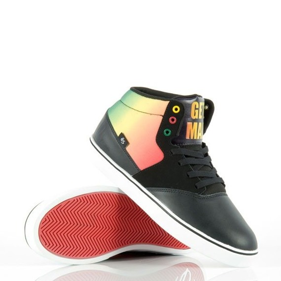 buty ES - TAIDO MAD DECENT COLLAB (BLACK/ORANGE/YELLOW) '11