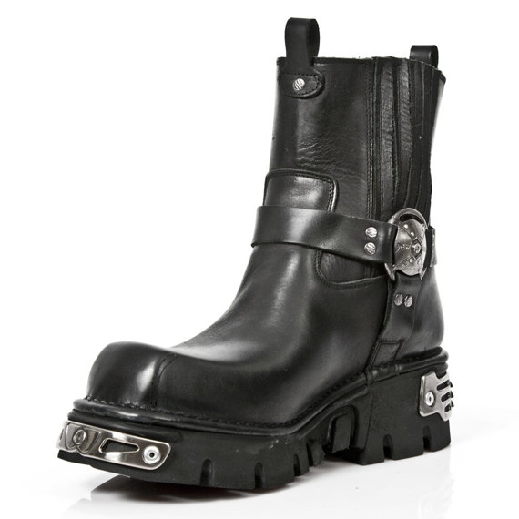 buty NEW ROCK -   ITALI NEGRO, PLANING NEGRO NEW M3 OXIDO MILITAR [M.1605 - S8]