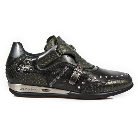 buty NEW ROCK LUX NEGRO-AZUL, VINTAGE FLOWER NEGRO, LUX NEGRO-A [HY019-S3]