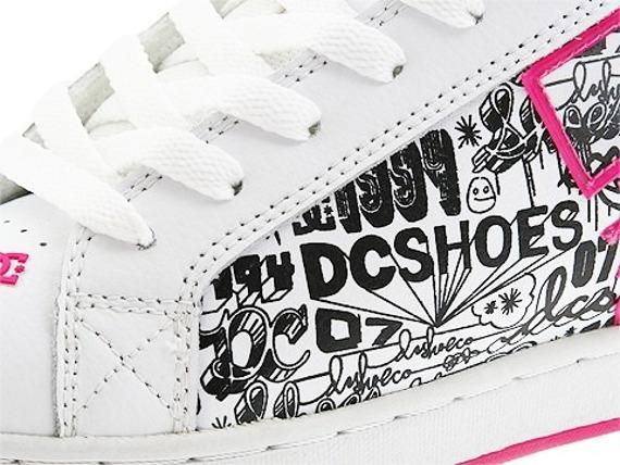 buty damskie DC- COURT GRAFFIK SE (WHITE/CRAZY PINK/BLACK)