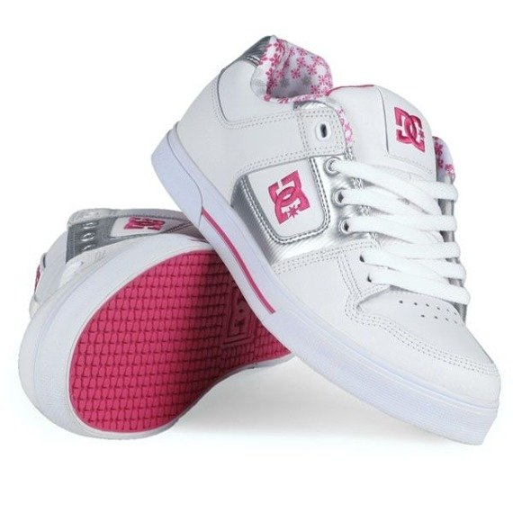 buty damskie DC - PURE (WHITE/M.SILVER/C.PINK)