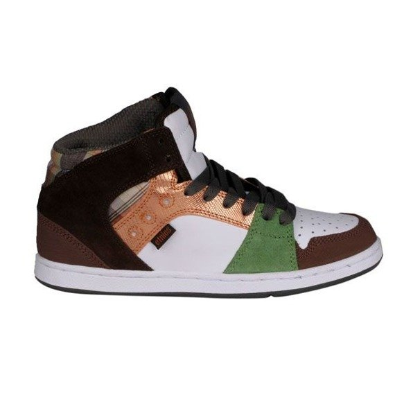 buty damskie ETNIES - PERRY MID (BROWN/GREEN)