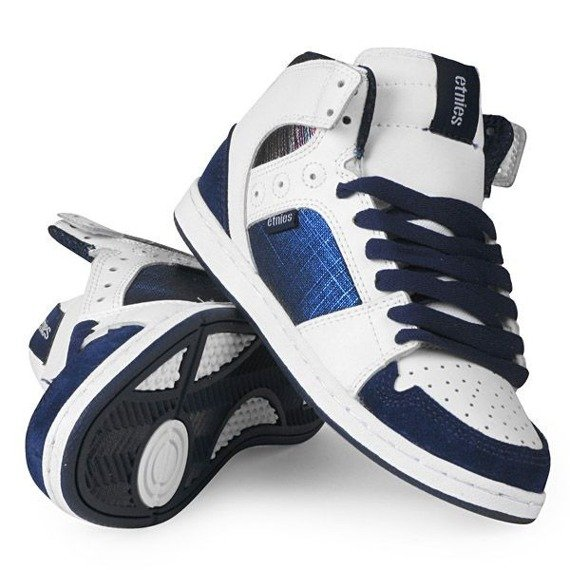 buty damskie ETNIES -PERRY MID (WHITE/BLUE)