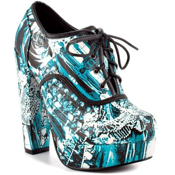 buty na koturnie IRON FIST - CHANDELIER OXFORD LACE UP PLATFORM