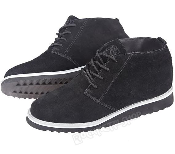 buty zamszowe NEW AGE - CZARNE / BLACK