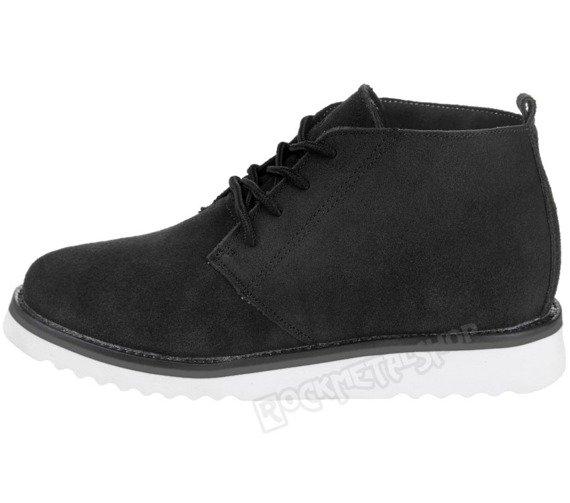 buty zamszowe NEW AGE - CZARNE / BLACK WS1272