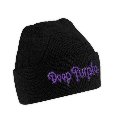 czapka DEEP PURPLE  - LOGO, zimowa