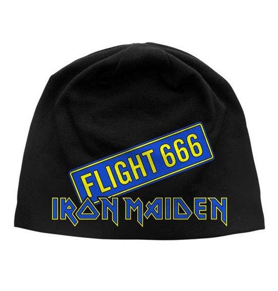 czapka IRON MAIDEN - FLIGHT 666, zimowa