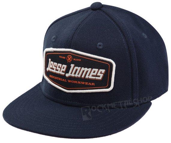 czapka JESSE JAMES - LOGO FLATBILL granatowa