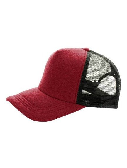 czapka MASTERDIS - BASEBALL CAP JERSEY TRUCKER, ht. red/black