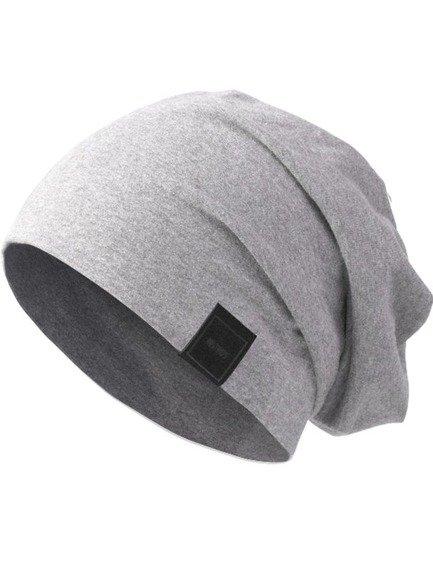 czapka MASTERDIS -  MSTRDS JERSEY BEANIE heath. grey