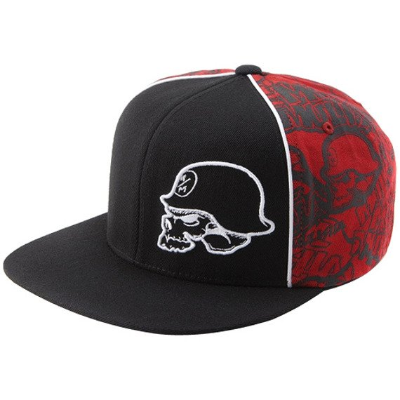 czapka METAL MULISHA - STAGE black/red