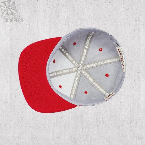 czapka WEST COAST CHOPPERS - BALL HAT GREY-RED