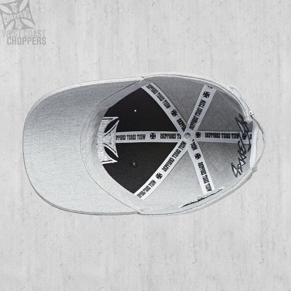 czapka WEST COAST CHOPPERS - WCC BLACK-GREY OG CROSS