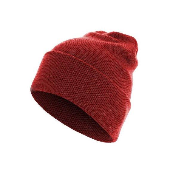 czapka zimowa MASTERDIS - BEANIE BASIC FLAP LONG red