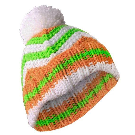 czapka zimowa MASTERDIS - BEANIE ZIG ZAG white/orange