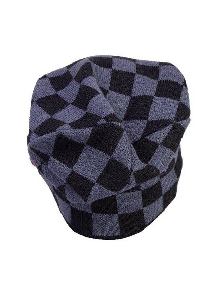 czapka zimowa MASTERDIS - C3 CHECK KNIT BEANIE black/dk.grey