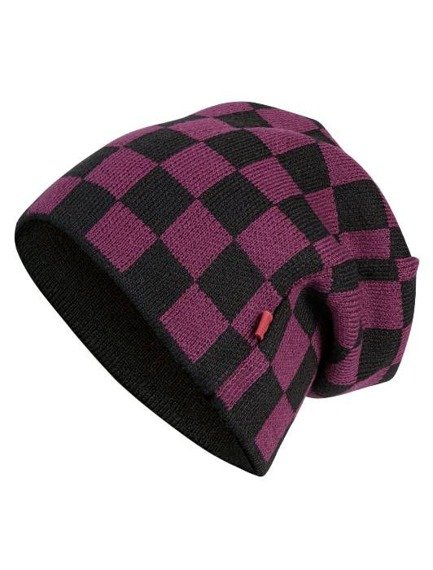 czapka zimowa MASTERDIS - C3 CHECK KNIT BEANIE black/maroon
