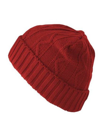 czapka zimowa MASTERDIS - CABLE FLAP RED