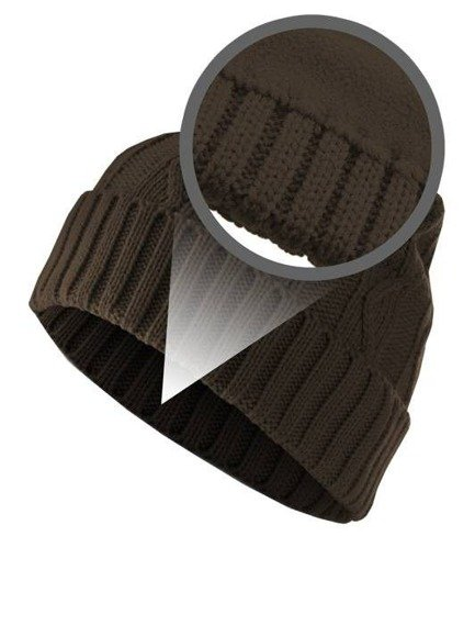 czapka zimowa MASTERDIS - CABLE FLAP chocolate