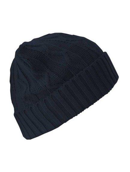 czapka zimowa MASTERDIS - CABLE FLAP navy