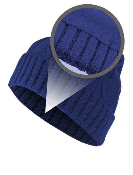 czapka zimowa MASTERDIS - CABLE FLAP royal