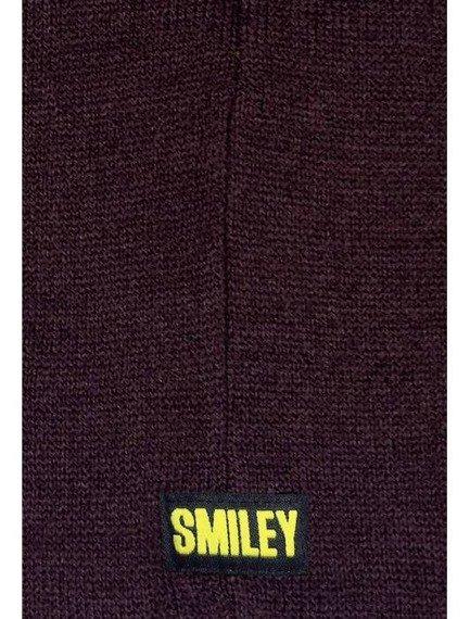 czapka zimowa MASTERDIS - SMILEY JACQUARD KNIT burgundy