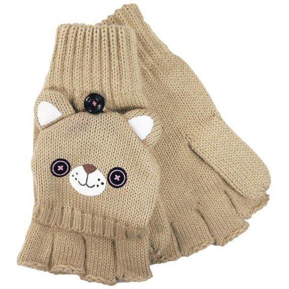czapka zimowa i rękawiczki FREAKS AND FRIENDS - BROWN WINTER SET