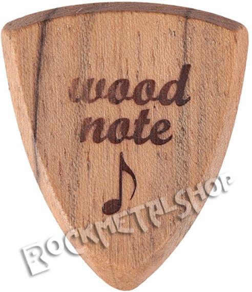 drewniana kostka do gitary WOODNOTE Bull Shield - ORZECH BOLIWIJSKI