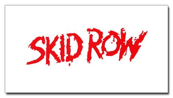 ekran biały SKID ROW - RED LOGO