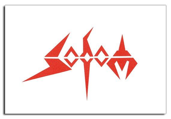 ekran biały SODOM - RED LOGO