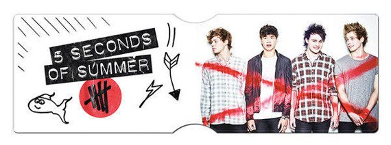 etui na kartę kredytową 5 SECONDS OF SUMMER - ALBUM