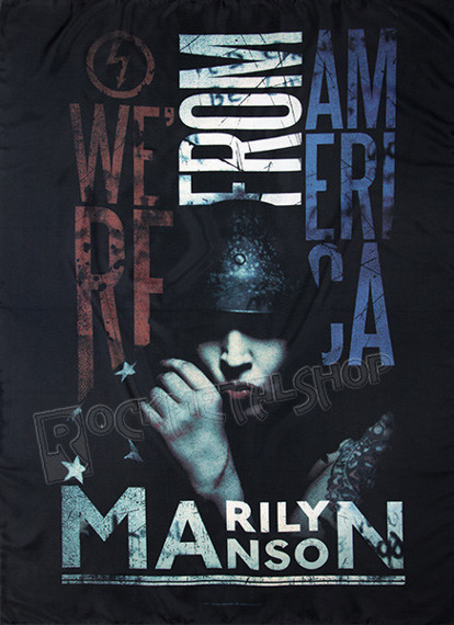 flaga MARILYN MANSON - AMERICAN GRAFFITI