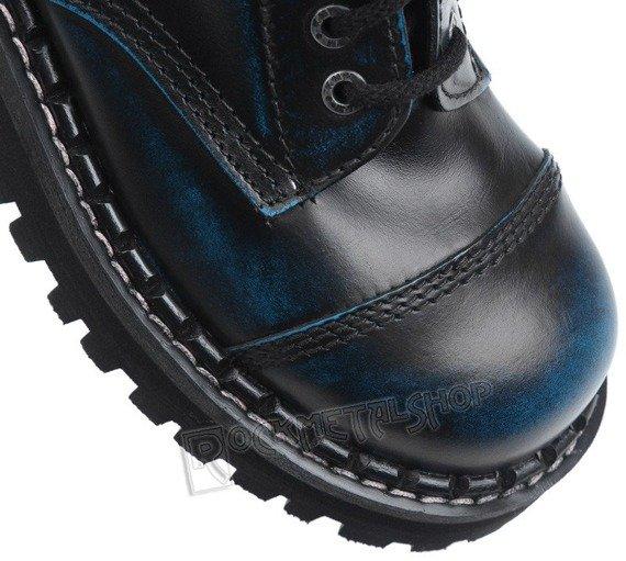 glany KMM - NIEBIESKIE PRZECIERANE 8-dziurkowe (080 BLACK/BLUE)