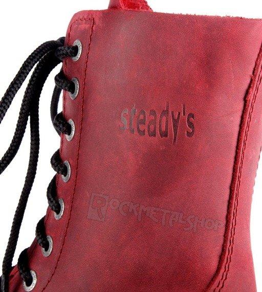 glany STEADY'S - 10 dziurek, czerwone / CRAZY (STE/10)
