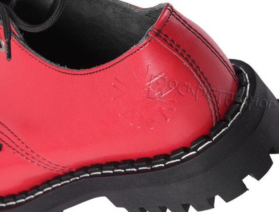 glany STEEL - FULL RED (3 dziurki)