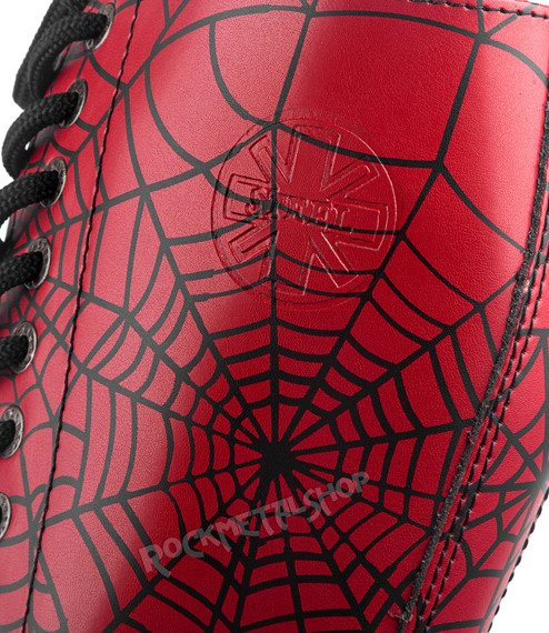 glany STEEL - SPIDER BLACK / FULL RED (15-dziurkowe)