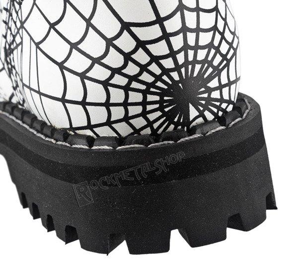 glany STEEL - SPIDER BLACK / FULL WHITE (10-dziurkowe)
